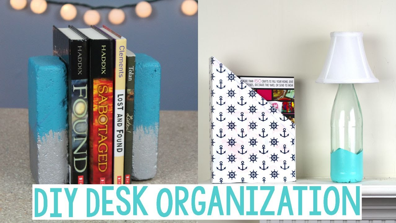 DIY Desk Organization | BACK TO SCHOOL CRAFTS | DORM DECOR   YouTube Part 13
