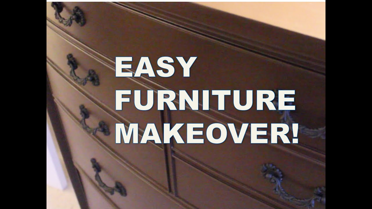 REFINISH FURNITURE WITHOUT SANDING | Rust Oleum Cabinet Transformations Kit    YouTube