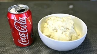DIY Coca Cola Flavored Ice Cream