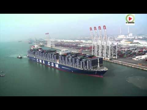 Le-Havre:  Le CMA-CGM Bougainville Plus Grand Porte-conteneurs Au Monde - Marseille Bretagne Télé