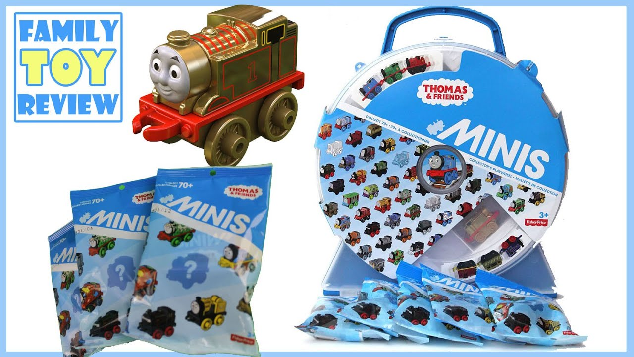 Thomas & Friends Minis Train Set Storage Wheel Case & The Great Race Blind Bags by FamilyToy