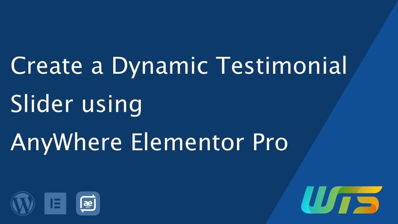 Dynamic Testimonial Slider/Carousel using Elementor