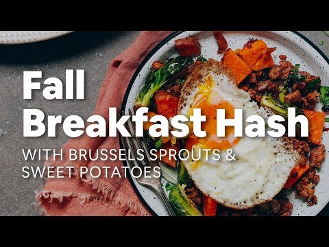 Breakfast Hash with Brussels Sprouts and Sweet Potatoes | Minimalist Baker Recipes