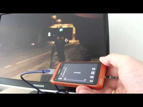 Nokia N8 HDMI out - demo