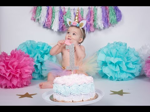 DIY UNICORN BIRTHDAY | BABY'S FIRST BIRTHDAY PARTY | UNICORN THEME