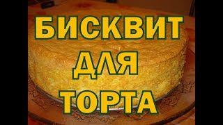 Бисквит Для Торта Видео Рецепт