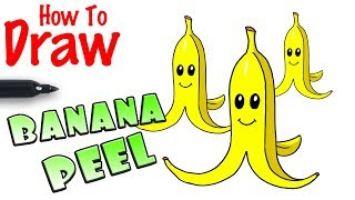 How to Draw Banana Peel | Super Mario Kart