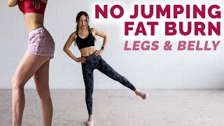 Full Body No Jumping Workout To Burn Fat | Burn Thigh Fat Low Impact Cardio