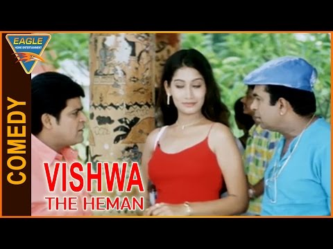 Vishwa the Heman Hindi Dubbed Movie    Brahmanandam And Ali Funny Comedy Scene    Eagle Hindi Movies thumbnail