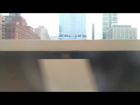 CTA green line goes over Metra station