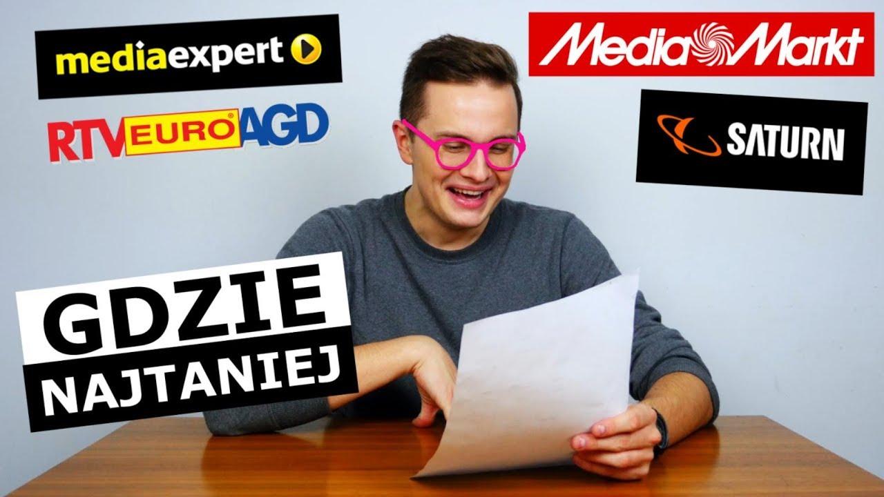 MEDIA MARKT, EXPERT, SATURN, EURO - GDZIE TANIEJ?