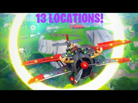 All 13 Golden Ring Locations 14 Days Of Fortnite Fly Through