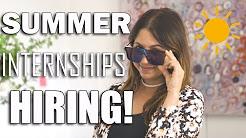 Summer 2018 Internships Hiring Now! | The Intern Queen