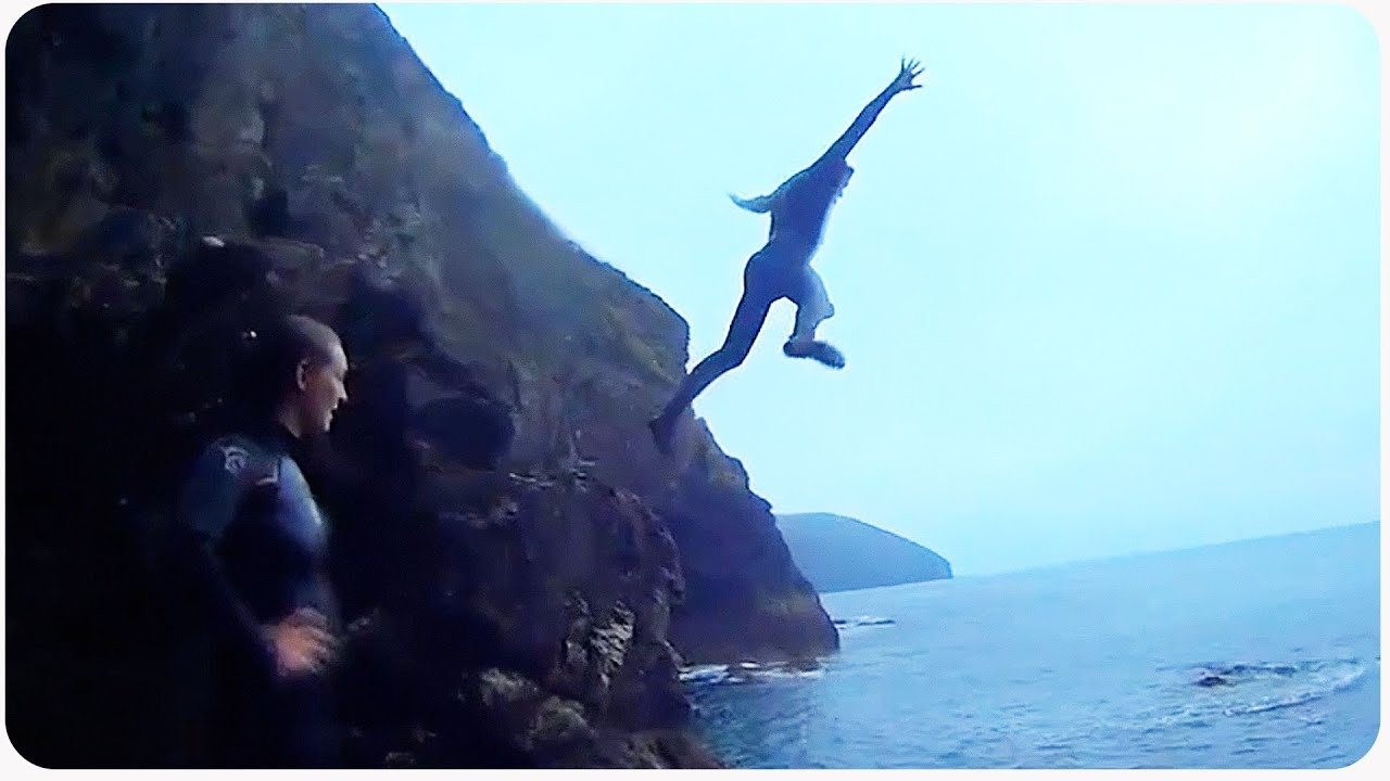 Awesome Cliff Jumping In St. Agnes, UK
