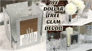 DIY DOLLAR TREE  GLAM MIRROR  DECOR | DIY GLAM HOME DECOR IDEAS