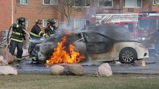 Milwaukee Car Fire in 4K - Filmed April 4, 2017 on Milwaukee