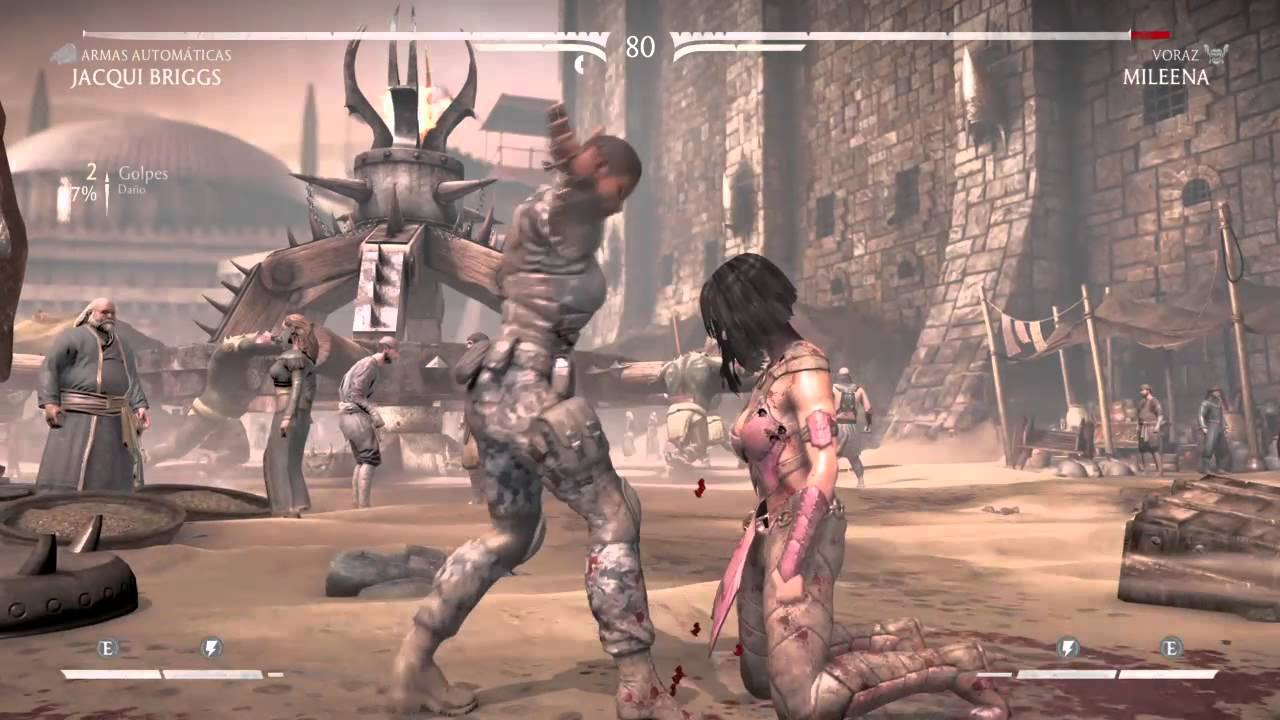 Mileena vs Jacqui Briggs . MortalKombat X. Fatality kill