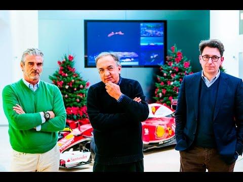 Ferrari: Marchionne, Arrivabene e Binotto all'incontro di fine anno
