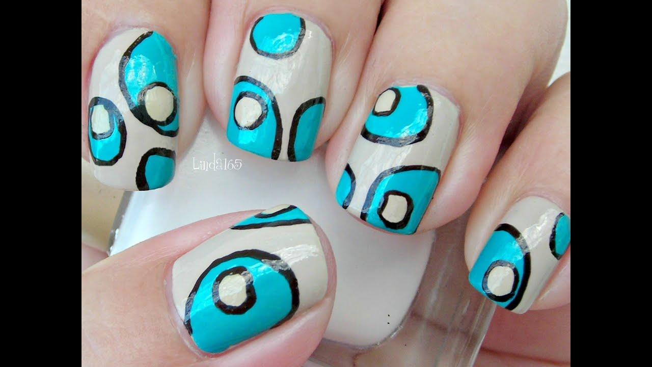 Nail art that 70 39 s rug decoracion de u as youtube for Decoracion 70 s
