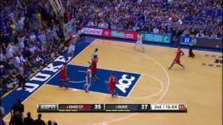 (4) ohio state travels to cameron indoor take on the (2) duke blue devils 11/28/12. no copyright infringements intended. all video rights go espn.hi...
