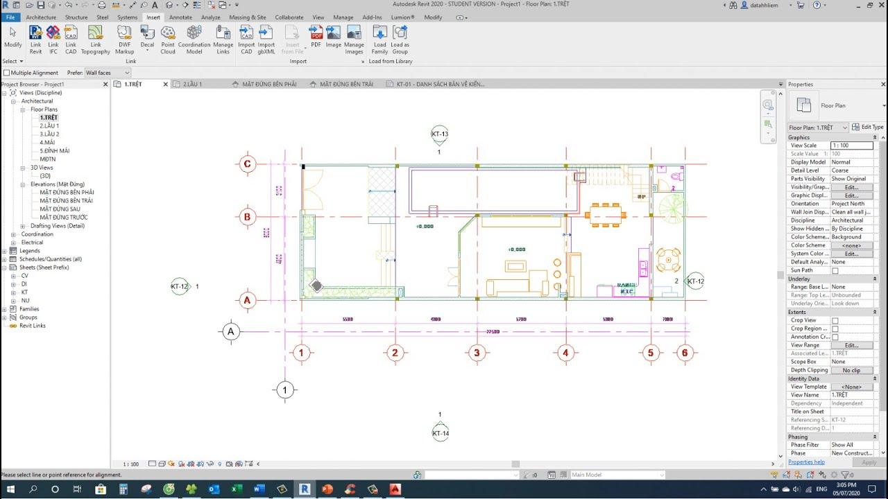 TĐT – LỚP BIM K01 – BUỔI 2 – Thực hành mô hình dự án