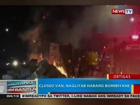 BP: Closed van, nagliyab habang bumibiyahe