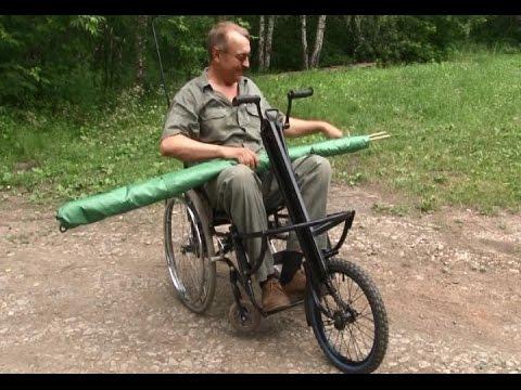 Уральский кузнец превратил инвалидную коляску в трехколесный велосипед