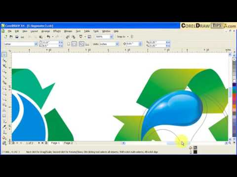Converting a 2D logo to a 3D view logo in CorelDraw thumbnail