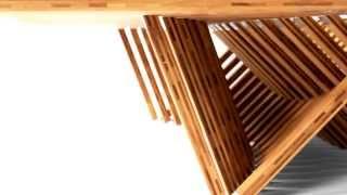 Folding furniture Rising Table