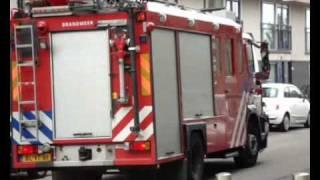Prio 1 TS46-1 TS44-1 AL44-1 Gebouwbrand Adriaan Kooningsstraat Rotterdam