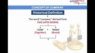 Company Law: INTRODUCTION OR CONCEPT OF COMPANY LEGAL DEFINITION  Part 1 in HINDI