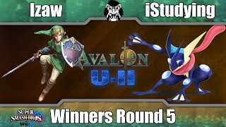 Avalon U-II - Izaw (Link) Vs. iStudying (Greninja) - Winners Round 5 - Smash 4