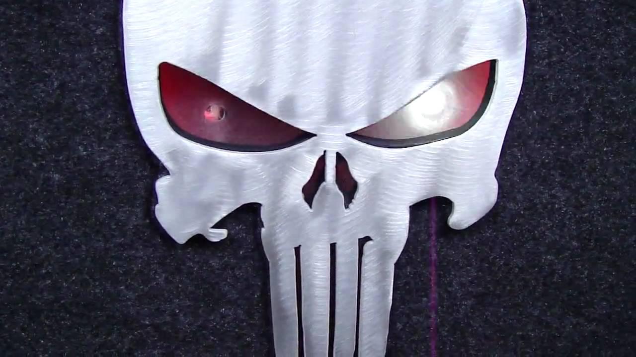 Dodge Challenger Demon >> Custom Punisher Logo in Trunk with Lights for Challenger ...