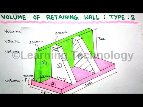 Concrete Volume of Retaining Wall | Type 2 | Learning Technology