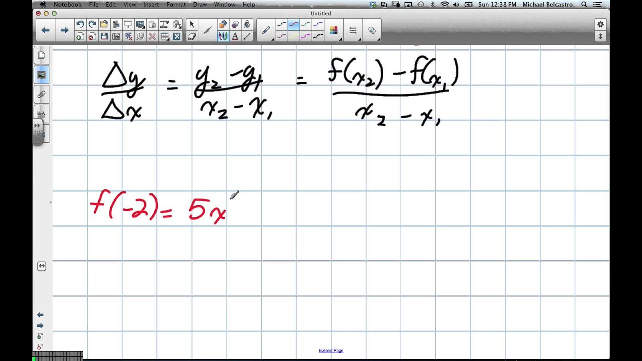 Slope Of A Secant That Joins Two Points Grade 12 Advanced Functions Lesson  2 1 1 27 13