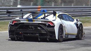 2018 Lamborghini Huracan Super Trofeo EVO SCREAMING V10 Sounds @ Monza Circuit!