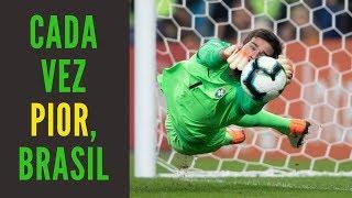 Contra o Paraguai com 10 homens, seleção brasileira consegue piorar e se livra só nos pênaltis