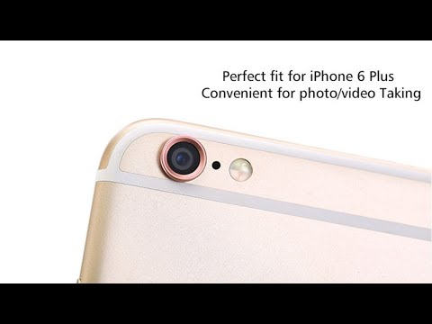 newest a9c99 e5fbc IPhone 6/6s 6splus protruding camera metal lens protector and how to apply  it