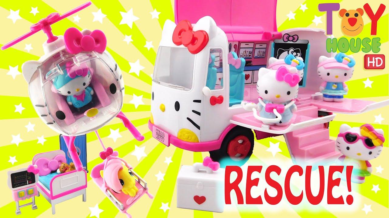 1b0c0b23c6ba Hello Kitty Rescue Set TOY REVIEW! - YouTube