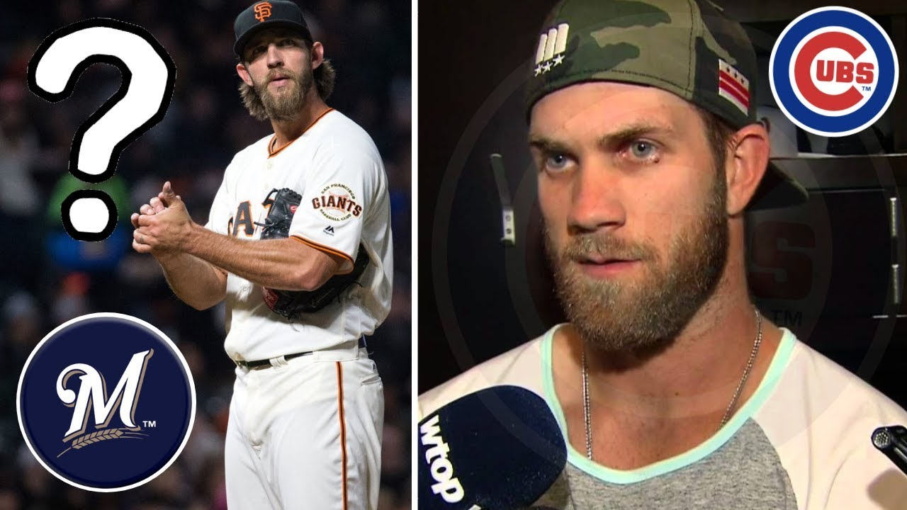 quality design 48f5b f5907 Madison Bumgarner TRADED to Brewers? Bryce Harper Cubs Update! MLB Trade  Rumors & Offseason News