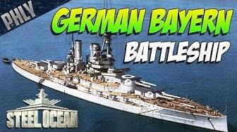 STEEL OCEAN Battleship Gameplay! German Bayern BATTLESHIP