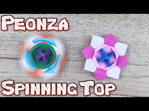 Origami Incredible Spinning | How To Make a Paper Spinning Top Tutorial | DIY Peonza Spinning Top