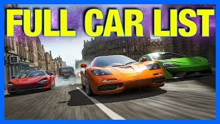 Forza Horizon 4 : FULL CAR LIST!! **No Mitsubishi & Toyota**