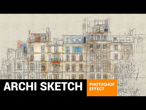 Architectum 3 - Archi Sketcher Photoshop Action Tutorial