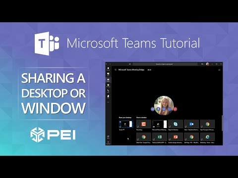 Microsoft Teams | PEI - How To Share Your Desktop Or Programs