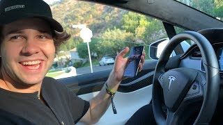 David Dobrik Reviews a Tesla Model X with Me Video