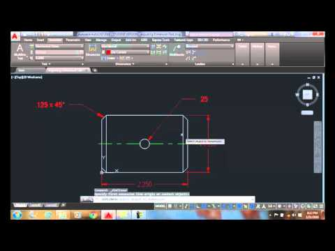 AutoCAD I 17-05 Including Symbols with Dimension Text