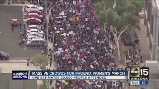 20,000 people take to streets of Phoenix for women's march