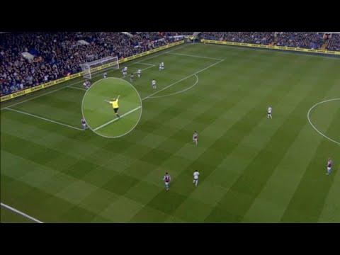 Referee Mike Dean celebrating Tottenham goal vs Aston Villa!