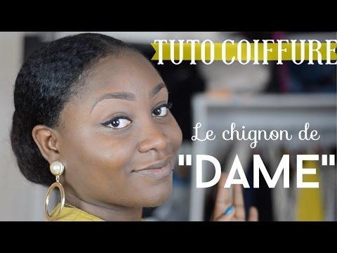 """Comment faire un Chignon de """"Dame"""" l Coiffure protectrice"""